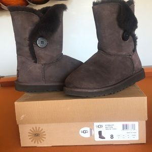 Authentic Ugg with Bailey Button.